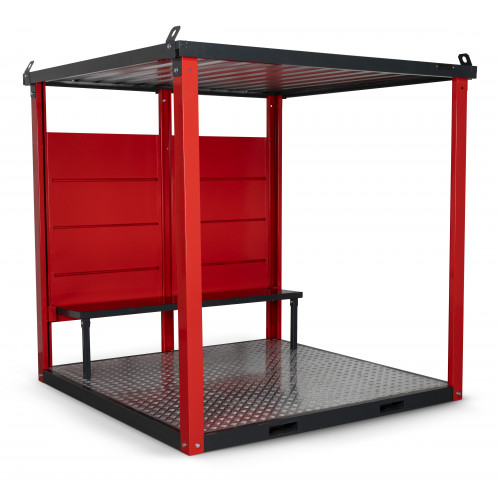 Armorgard Flat Packed smoking / vaping shelter, with bench.