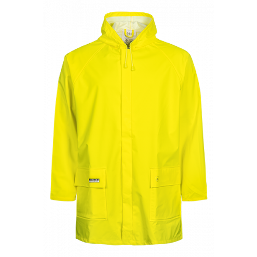 Rain Jacket in PU Hi Vis Yellow