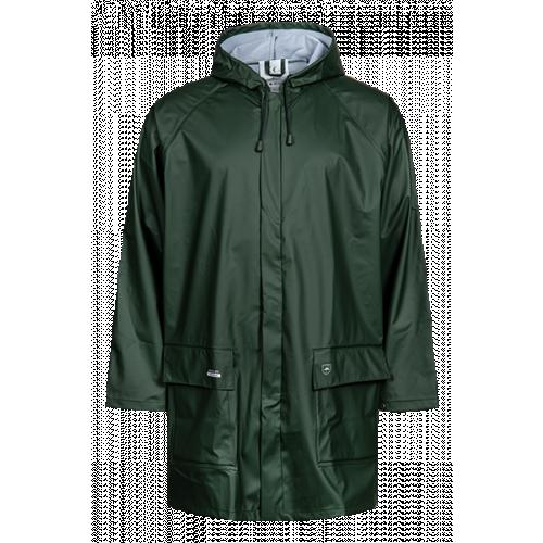 Rain Jacket in PU Bottle Green