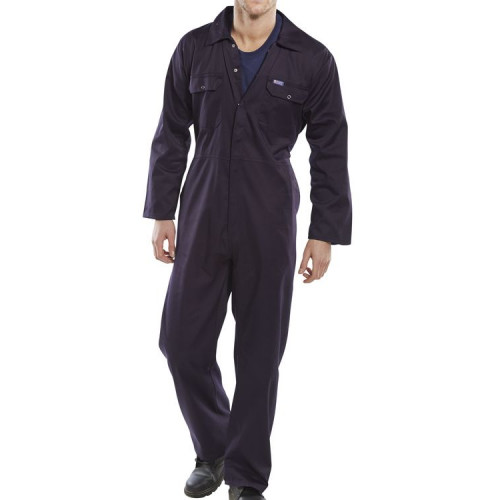 Navy Basic Polycotton Coverall