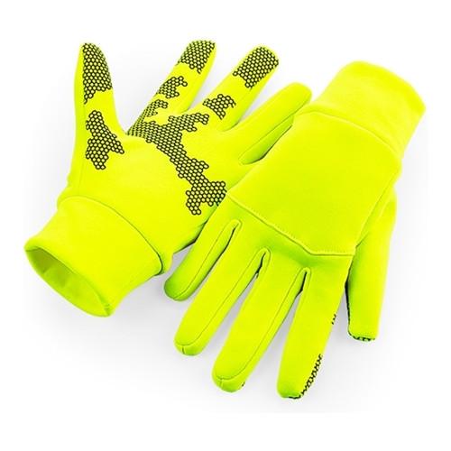 Yellow Softshell Gloves Beechfield
