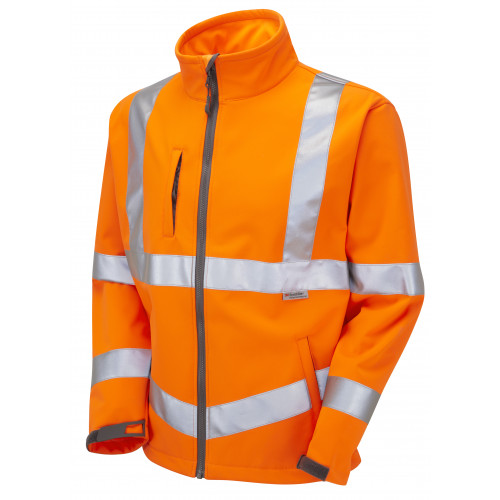 Buckland Hi Vis Softshell Jacket Orange