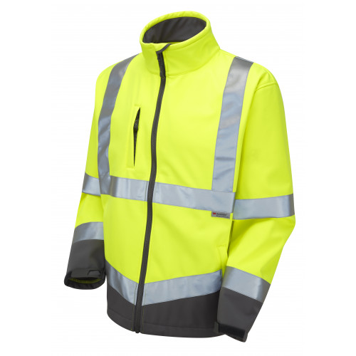 Buckland Hi Vis Softshell Jacket Yellow