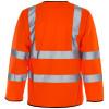 Hi Vis L/Sleeve Waistcoat Orange